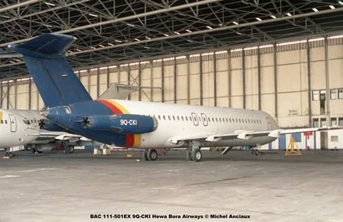 img345 BAC 111-501EX 9Q-CKI Hewa Bora Airways © Michel Anciaux