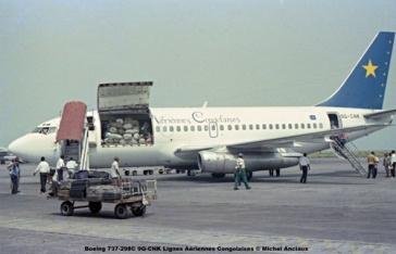 img352 Boeing 737-298C 9Q-CNK Lignes Aériennes Congolaises © Michel Anciaux