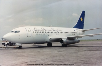 img359 Boeing 737-298C 9Q-CNK Lignes Aériennes Congolaises © Michel Anciaux