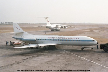 img40 Sud Aviation SE-210 Caravelle III 9Q-CFN Fontshi Aviation Services © Michel Anciaux