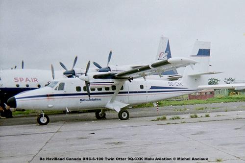 img439 De Havilland Canada DHC-6-100 Twin Otter 9Q-CXK Malu Aviation © Michel Anciaux