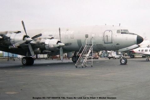 img440 Douglas DC-7CF N869TA TAL Trans Air Link lsd to Filair © Michel Anciaux
