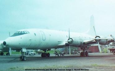 img449 Bristol 175 Britannia 253 9Q-CJH Transair Cargo © Michel Anciaux