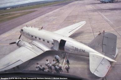 img499 Douglas C-47A 9Q-CYE TAZ Transports Aeriens Zairois © Michel Anciaux
