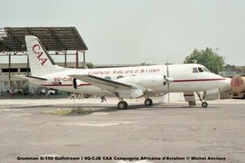 img57 Grumman G-159 Gulfstream I 9Q-CJB CAA Compagnie Africaine d'Aviation © Michel Anciaux