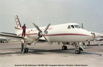 img58 Grumman G-159 Gulfstream I 9Q-CBD CAA Compagnie Africaine d'Aviation © Michel Anciaux