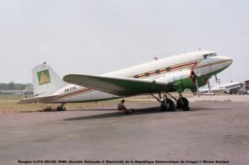 img61 Douglas C-47A 9Q-CSL SNEL (Société Nationale d' Electricité de la République Democratique du Congo) © Michel Anciaux