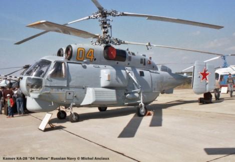 img610 Kamov KA-28 ''04 Yellow'' Russian Navy © Michel Anciaux