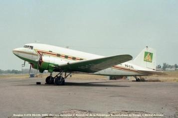 img70 Douglas C-47A 9Q-CSL SNEL (Société Nationale d' Electricité de la République Democratique du Congo) © Michel Anciaux