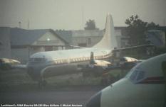 img78 Lockheed L-188A Electra 9Q-CDI Blue Airlines © Michel Anciaux