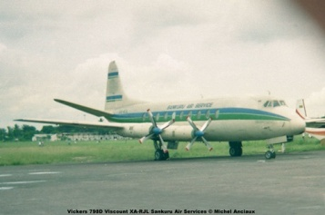 img876 Vickers 798D Viscount XA-RJL Sankuru Air Services © Michel Anciaux