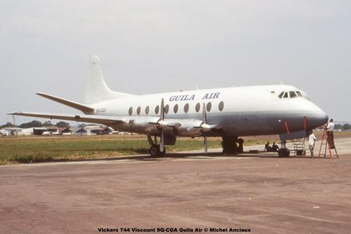 img896 Vickers 744 Viscount 9Q-CGA Guila Air © Michel Anciaux