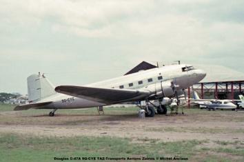 img97 Douglas C-47A 9Q-CYE TAZ -Transports Aeriens Zairois © Michel Anciaux