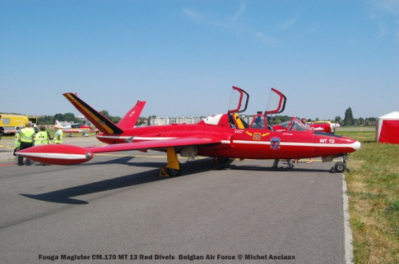 180 Fouga Magister CM.170 MT 13 Red Divels Belgian Air Force © Michel Anciaux