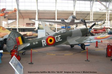 257Supermarine Spitfire Mk XIVe ''SG-55'' Belgian Air Force © Michel Anciaux