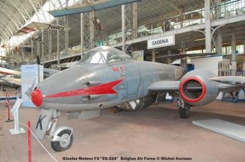 280 Gloster Meteor F8 ''EG-224'' Belgian Air Force © Michel Anciaux
