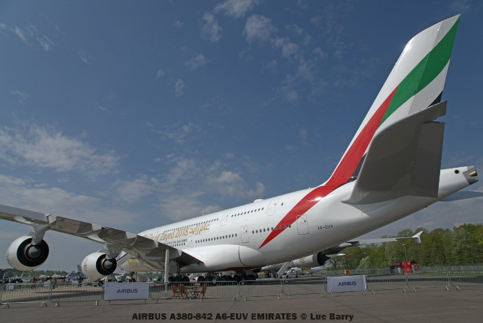 DSC04076 AIRBUS A380-842 A6-EUV EMIRATES © Luc Barry