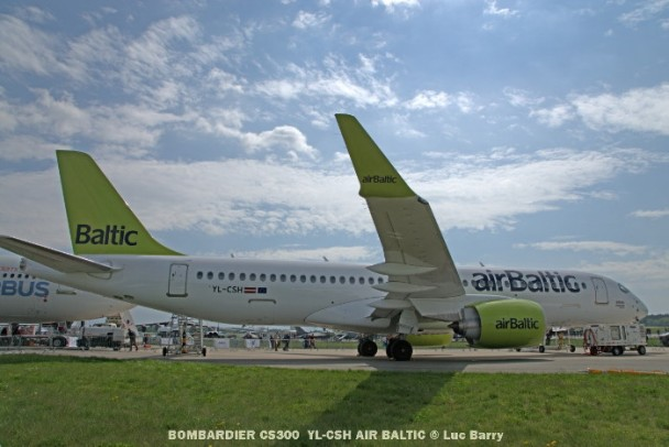 DSC04084 BOMBARDIER CS300 YL-CSH AIR BALTIC © Luc Barry