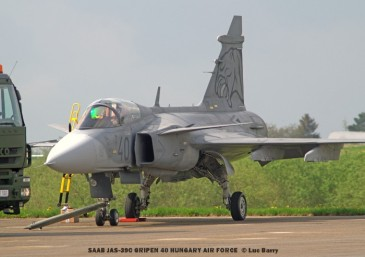 DSC07797 SAAB JAS-39C GRIPEN 40 HUNGARY AIR FORCE © Luc Barry