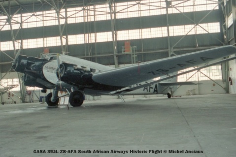 img830 CASA 352L ZS-AFA South African Airways Historic Flight © Michel Anciaux