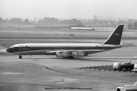 001 Boeing 707-336B G-AXXY BOAC © Michel Anciaux