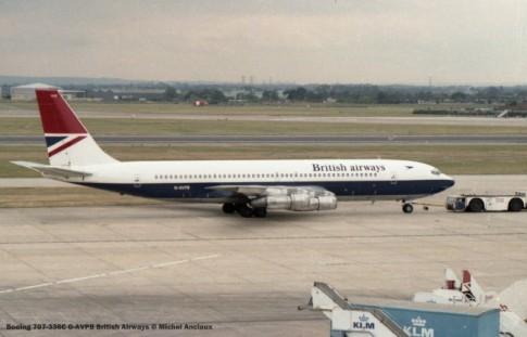 001 Boeing 707-336C G-AVPB British Airways © Michel Anciaux