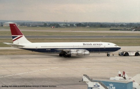 001 Boeing 707-336C G-AVPB British Airways © Michel Anciaux