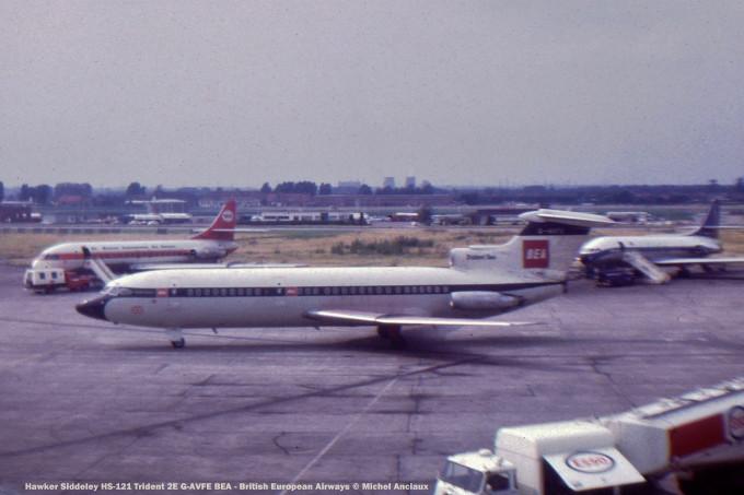 001 Hawker Siddeley HS-121 Trident 2E G-AVFE BEA - British European Airways © Michel Anciaux