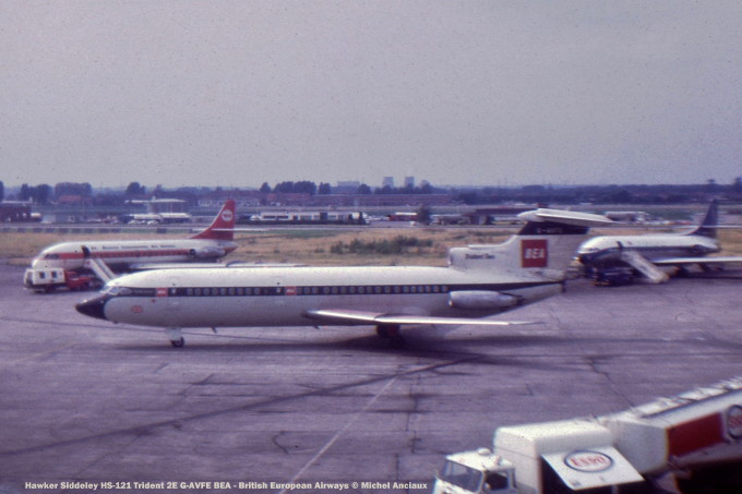 001 Hawker Siddeley HS-121 Trident 2E G-AVFE BEA - British European Airways © Michel Anciaux