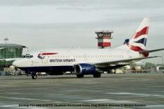 002 Boeing 737-59D G-GFFD Chatham Dockyard Union Flag British Airways © Michel Anciaux