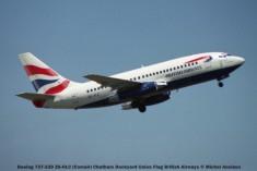 003 Boeing 737-230 ZS-OLC (Comair) Chatham Dockyard Union Flag British Airways © Michel Anciaux