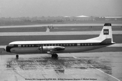 003 Vickers 951 Vanguard G-APEB BEA - British European Airways © Michel Anciaux