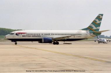 006 Boeing 737-436 G-DOCC Blue Poole (England) British Airways © Michel Anciaux