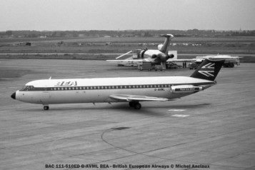 009 BAC 111-510ED G-AVML BEA - British European Airways © Michel Anciaux
