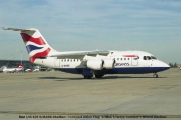 011 BAe 146-100 G-MABR Chatham Dockyard Union Flag British Airways Connect © Michel Anciaux