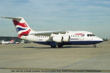 011 BAe 146-100 G-MABR Chatham Dockyard Union Flag British Airways Connect © Michel Anciaux