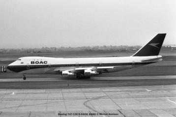 011 Boeing 747-136 G-AWNL BOAC © Michel Anciaux