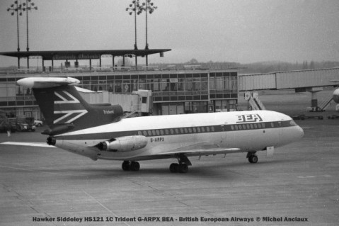 011 Hawker Siddeley HS121 1C Trident G-ARPX BEA - British European Airways © Michel Anciaux