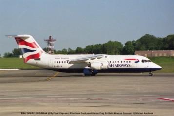 012 BAe 146-RJ100 G-BZAX (CityFlyer Express) Chatham Dockyard Union Flag British Airways Connect © Michel Anciaux