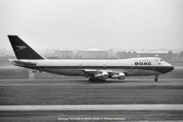 012 Boeing 747-136 G-AWNA BOAC © Michel Anciaux