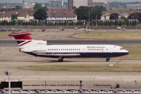 012 Hawker Siddeley HS 121 Trident 1C G-ARPL British Airways © Michel Anciaux