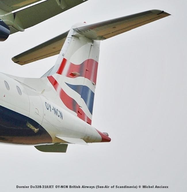 013 Dornier Do328-310JET OY-NCN British Airways (Sun-Air of Scandinavia) © Michel Anciaux
