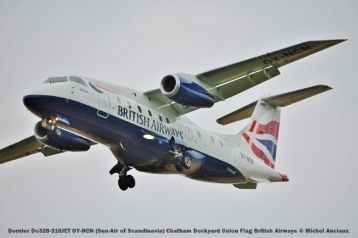 013 Dornier Do328-310JET OY-NCN (Sun-Air of Scandinavia) Chatham Dockyard Union Flag British Airways © Michel Anciaux