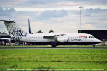 014 BAe Avro RJ100 G-BXAR Delftblau Dageraad (Delftblue Daybreak) (The Netherlands) British Airways CityFlyer © Michel Anciaux