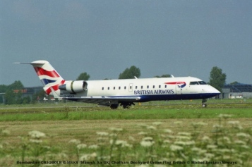 014 Bombardier CRJ-200LR G-MSKS (Maersk Air UK) Chatham Dockyard Union Flag British © Michel AnciauxAirways