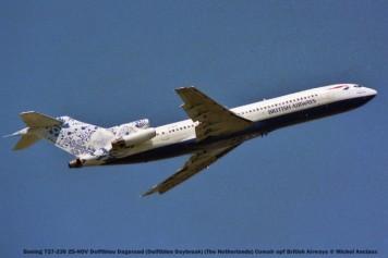 015 Boeing 727-230 ZS-NOV Delftblau Dageraad (Delftblue Daybreak) (The Netherlands) Comair opf British Airways © Michel Anciaux