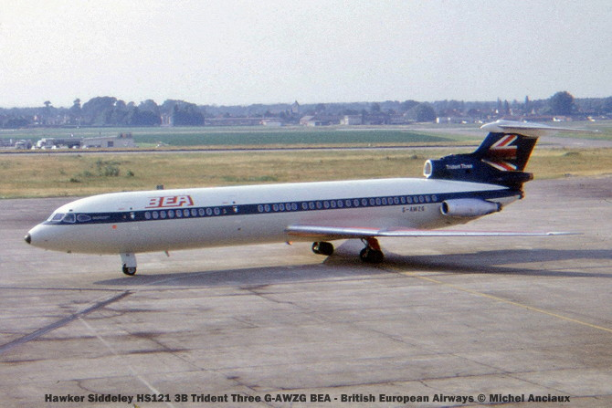 015 Hawker Siddeley HS121 3B Trident Three G-AWZG BEA - British European Airways © Michel Anciaux