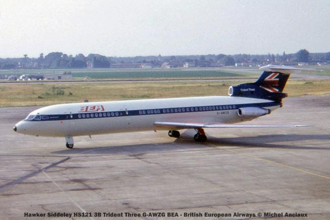 015 Hawker Siddeley HS121 3B Trident Three G-AWZG BEA - British European Airways © Michel Anciaux