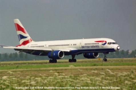016 Boeing 757-236 G-BIKR Chatham Dockyard Union Flag British Airways © Michel Anciaux