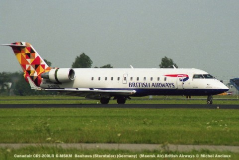 016 Canadair CRJ-200LR G-MSKM Bauhaus (Sterntaler) (Germany) (Maersk Air) British Airways © Michel Anciaux